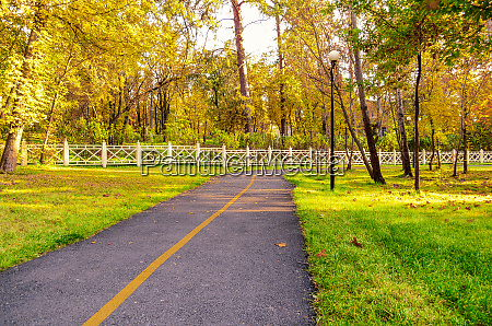 walking and bike path in the