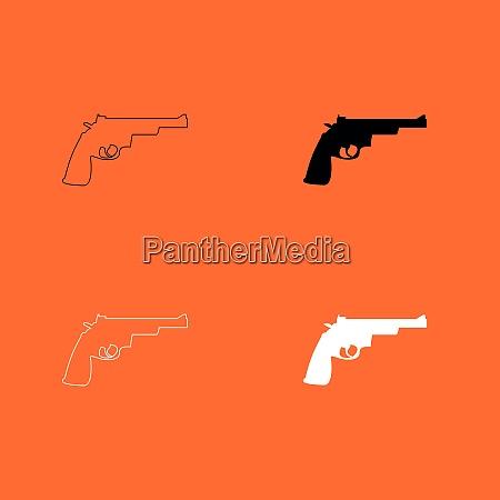 gun revolver icon