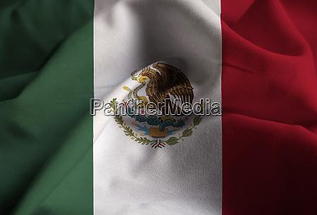 closeup of ruffled mexico flag mexico