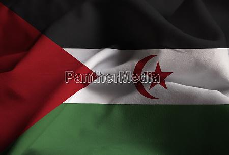 closeup of ruffled sahrawi arab democratic