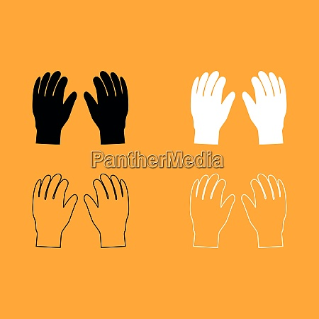 pair work of gloves set black