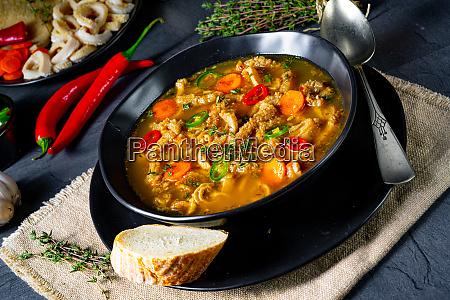 flaczki tripe soup the polish