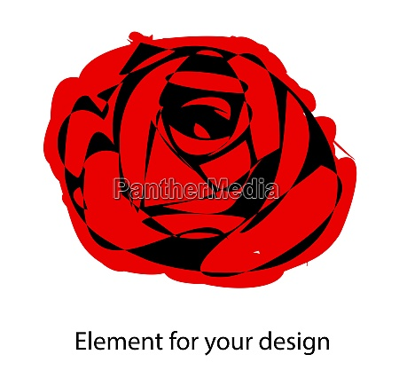 red rose is careless vector illustration