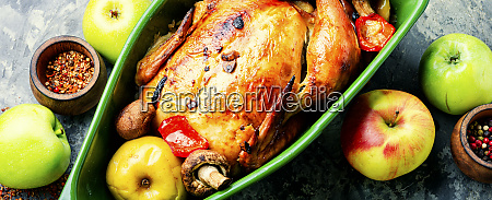 baked chicken with apples