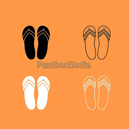 beach slippers black and white set