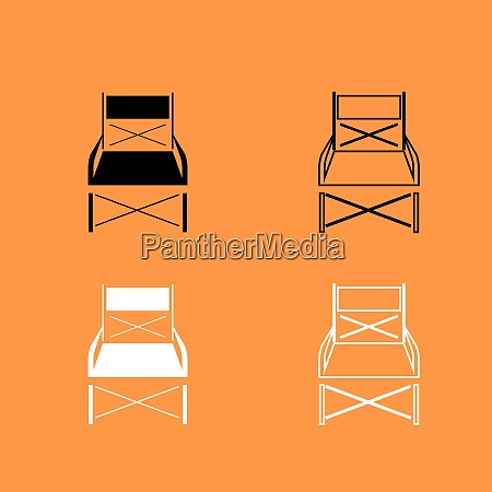 folding chair black and white set