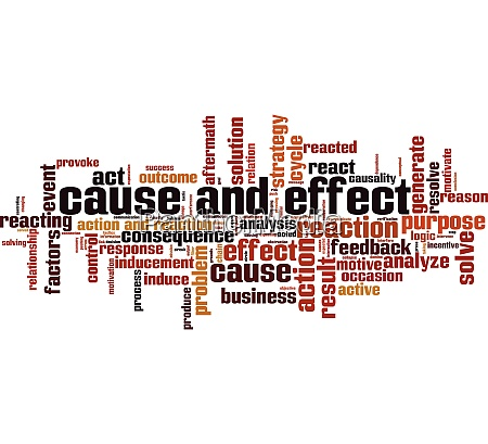 cause and effect word cloud