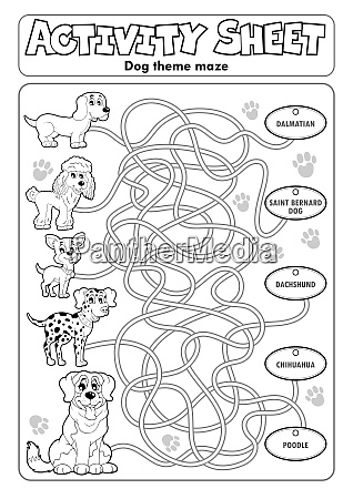 activity sheet dog theme 1
