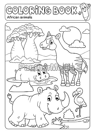 coloring book african fauna 4
