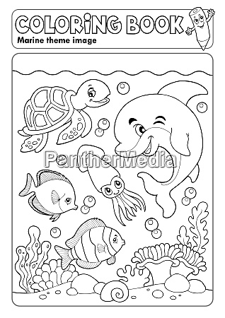 coloring book marine life theme 3