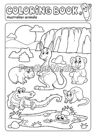 coloring book various australian animals