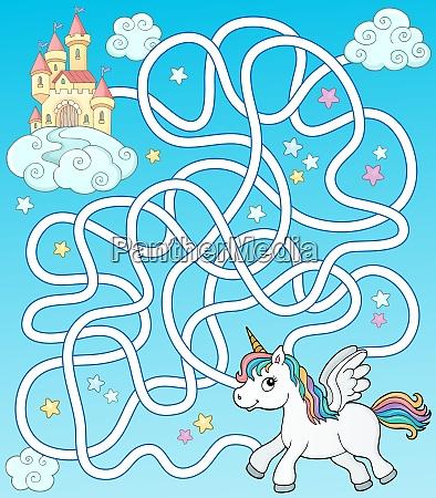 maze 35 with flying unicorn and