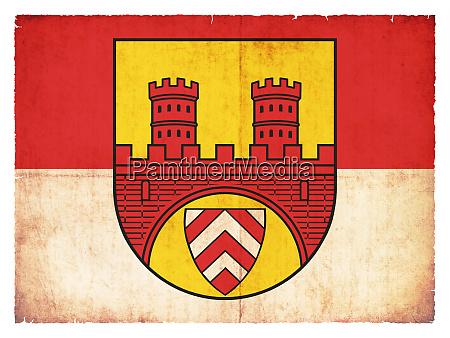 grunge flag of bielefeld north rhine