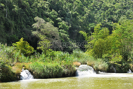 little waterfall at the loboc river