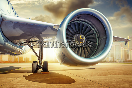 jet engine of an modern airliner