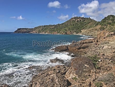 antigua coastline as seen from fort