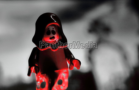pretty halloween photo with lego minifigure