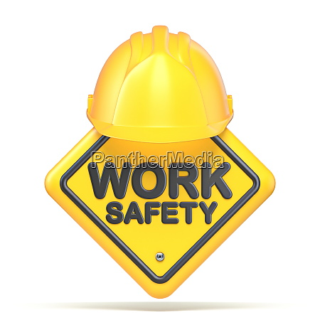 yellow plastic helmet and work safety
