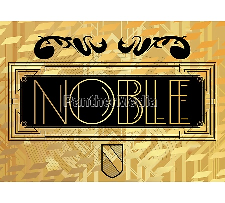 art deco noble text