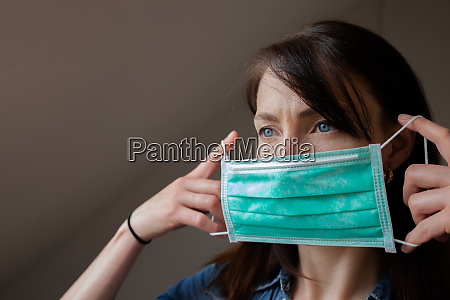 women wearing a facial protction mask
