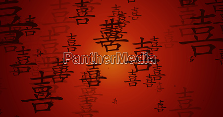 happiness chinese symbol background