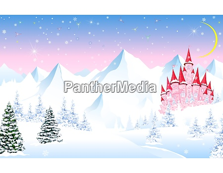 fairy, tale, castle, on, a, background - 28362357