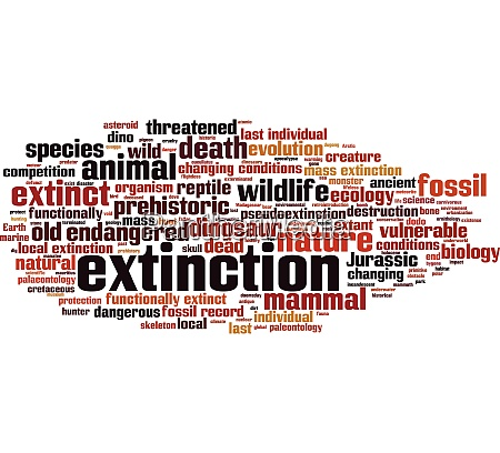 extinction word cloud