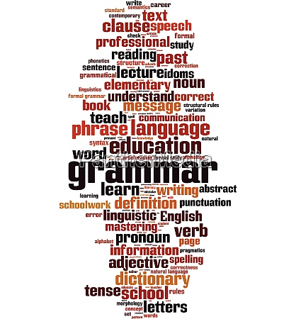 grammar word cloud