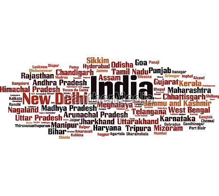cities in india word cloud