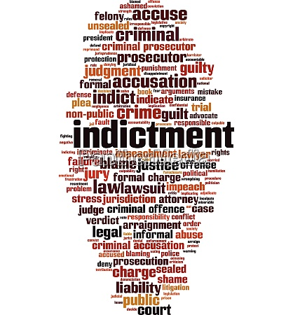 indictment word cloud