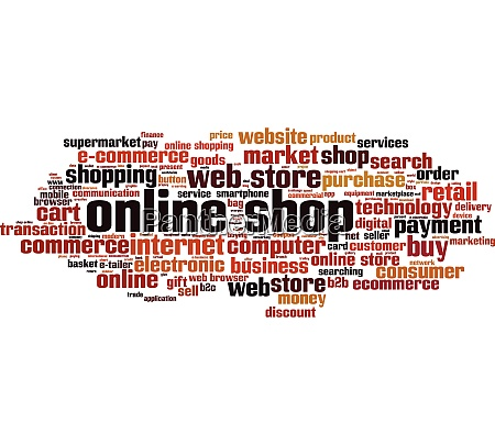 online shop word cloud