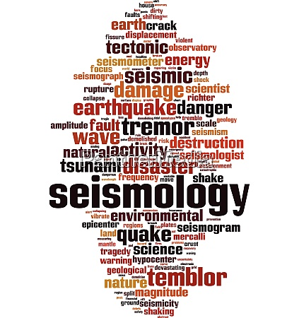 seismology word cloud