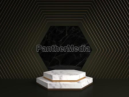 3d rendering of white marble pedestal