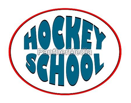 hockey school logo for a sports