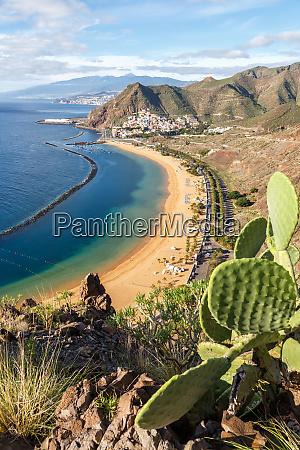 tenerife beach teresitas canary islands sea