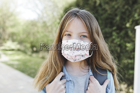 pretty girl with nose mouth mask