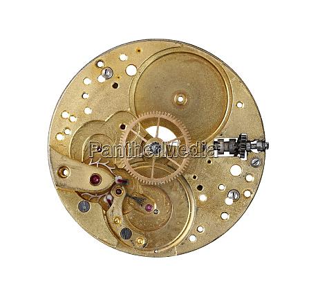detail of the clockwork mechanism