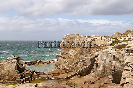 cliffs on the coast of the