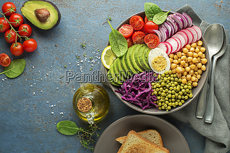 lunch vegan bowl