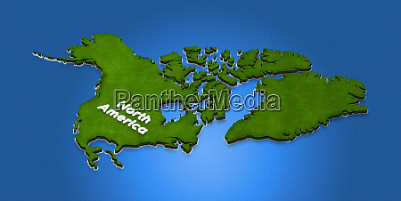map of north america 3d isometric