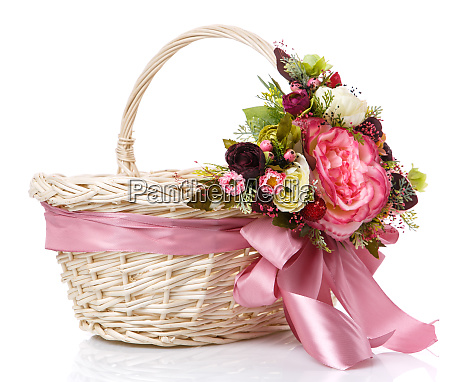 basket decorated handmade festive basket decorated