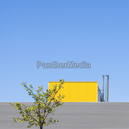 minimalism concept with industrial building detail