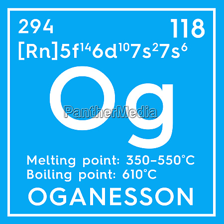 oganesson noble gases chemical element of