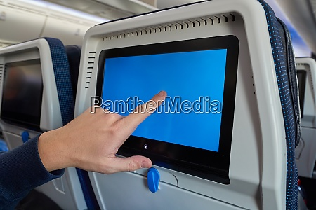 plane infotainment lcd screen
