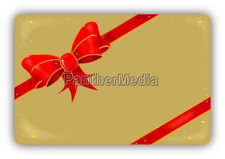 silk ribbon on a gold christmas