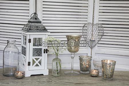 white nostalgic still life with shutters