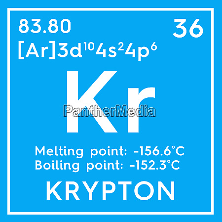 krypton noble gases chemical element of