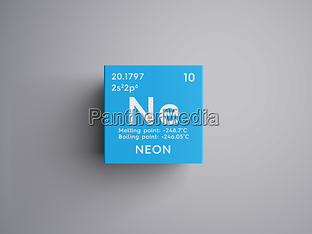 neon noble gases chemical element of