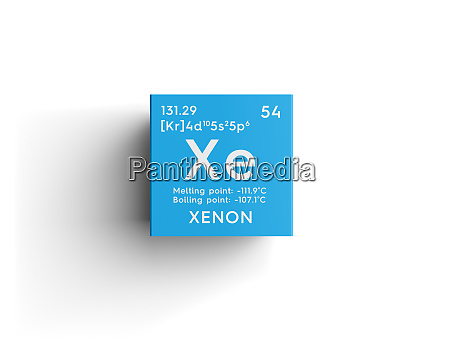 xenon noble gases chemical element of