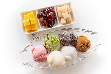 top view colorful ice cream